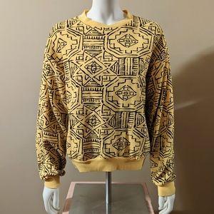 Abstract Yellow Sweatshirt